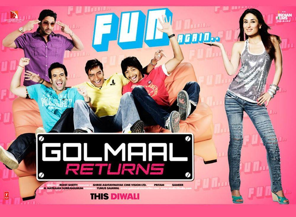 مشاهدة فيلم Golmaal Returns (2008) مترجم HD اون لاين